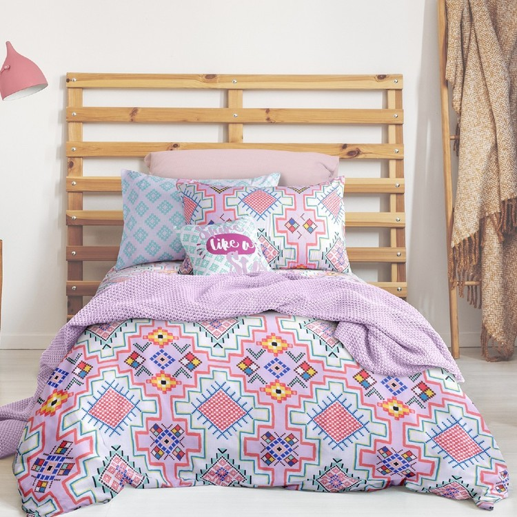Brampton House Kids Anika Quilt Cover Set Multicoloured