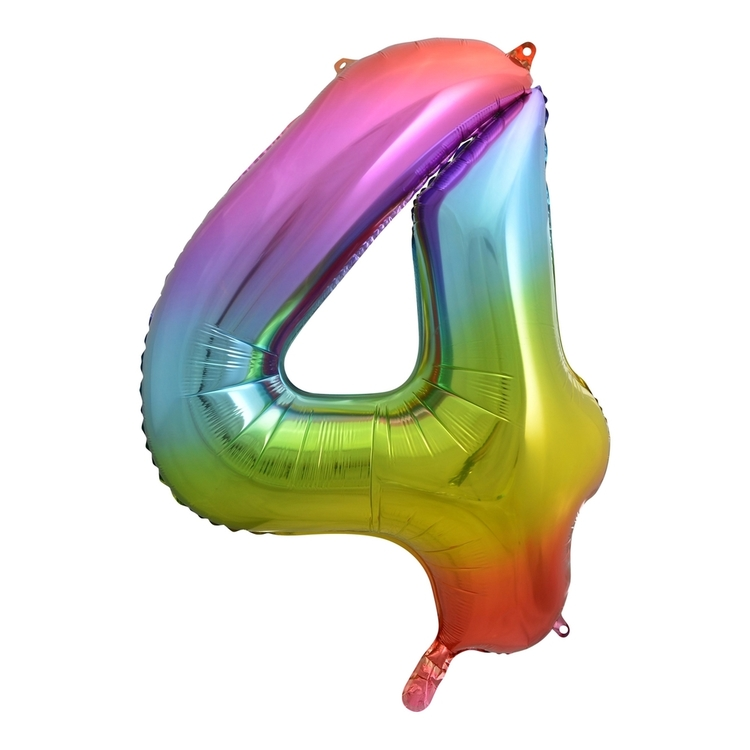 Alpen Rainbow Number 4 Foil Balloon