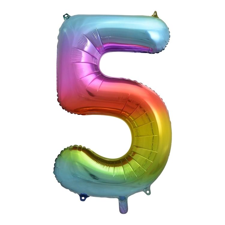 Alpen Rainbow Number 5 Foil Balloon