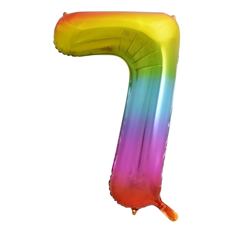 Alpen Rainbow Number 7 Foil Balloon