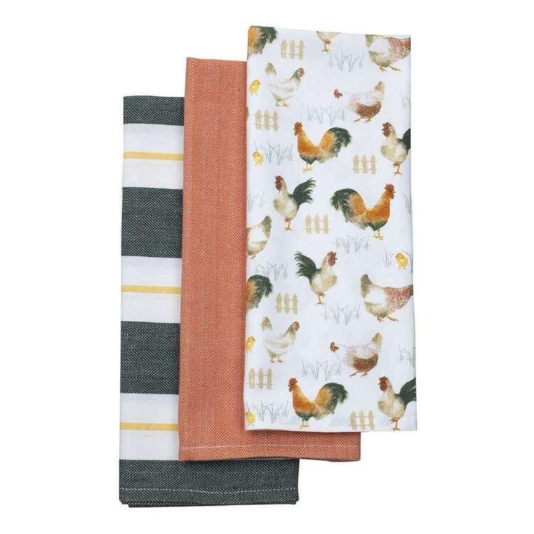 Kitchen By Ladelle Poulet T/Towel 3Pk