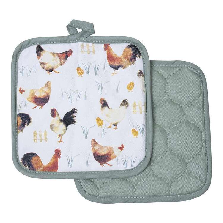 Kitchen By Ladelle Poulet P/Holder 2 Pk