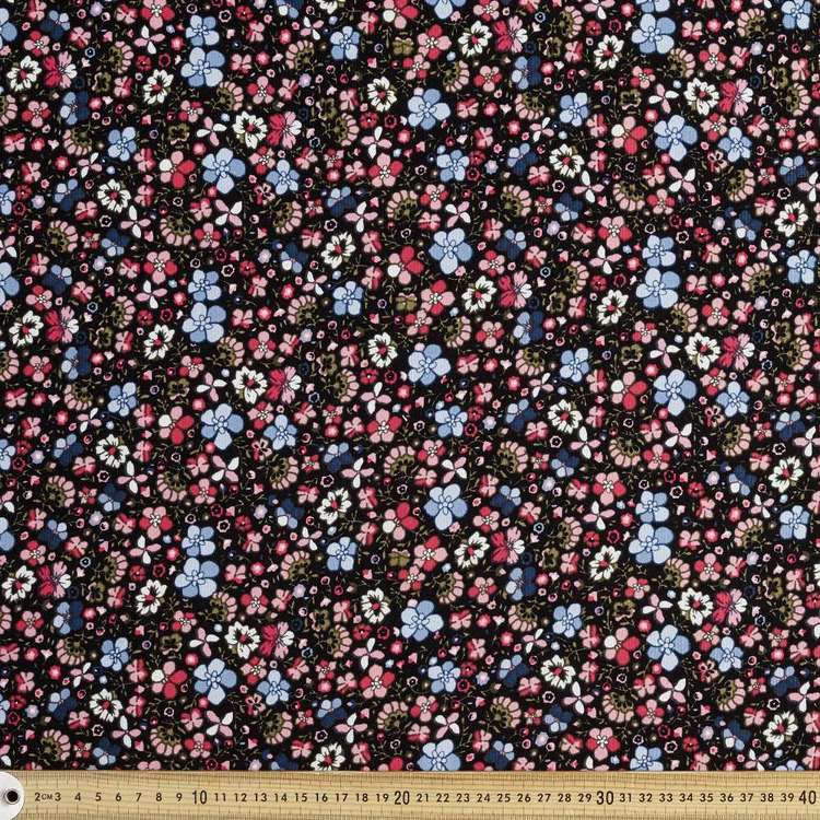 Jacobean Printed 112 cm Pinwale Cord Fabric