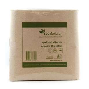 Alpen Eco Quilted Dinner Napkins 100 Pack