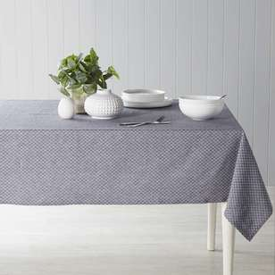 Dine By Ladelle Domain Black Table Cloth
