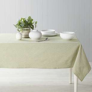 Dine By Ladelle Domain Green Table Cloth