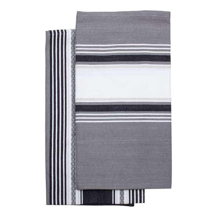 Kitchen By Ladelle Elm Jumbo 2 Pack Tea Towel