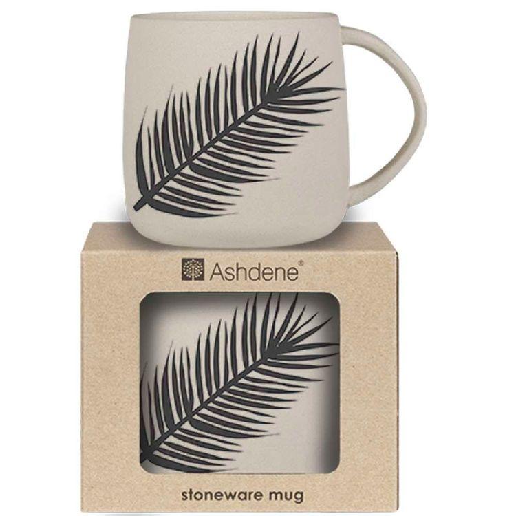 Ashdene Maison Palm Leaves Black Mug