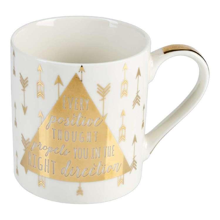 Ashdene My Metallics Teaware Positive Mug