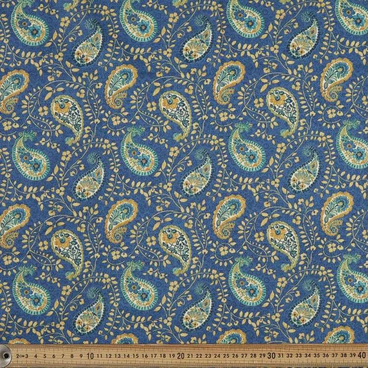 Blank Textiles Peacock Pavilion Paisley Cotton Fabric