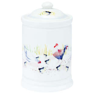 Ashdene Country Chickens Canister