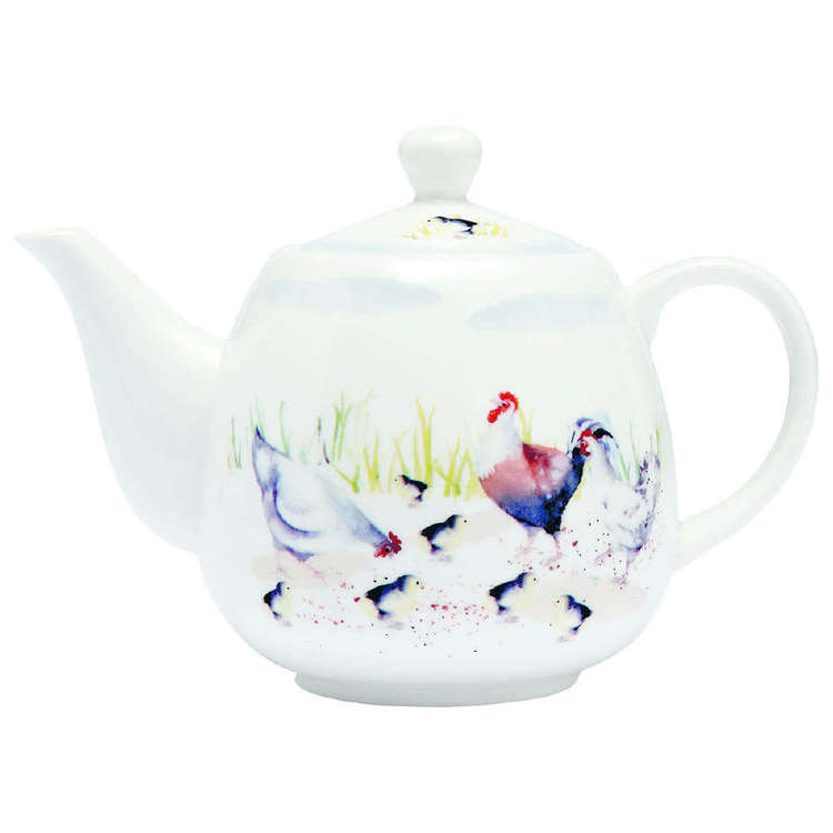 Ashdene Country Chickens Teapot