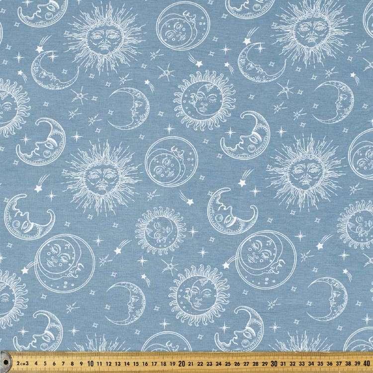 Sun & Moon Printed Rayon Knit Fabric