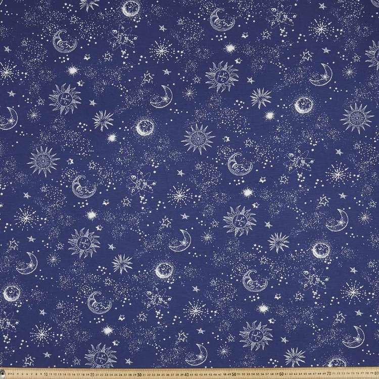 Celestial Printed Rayon Knit Fabric