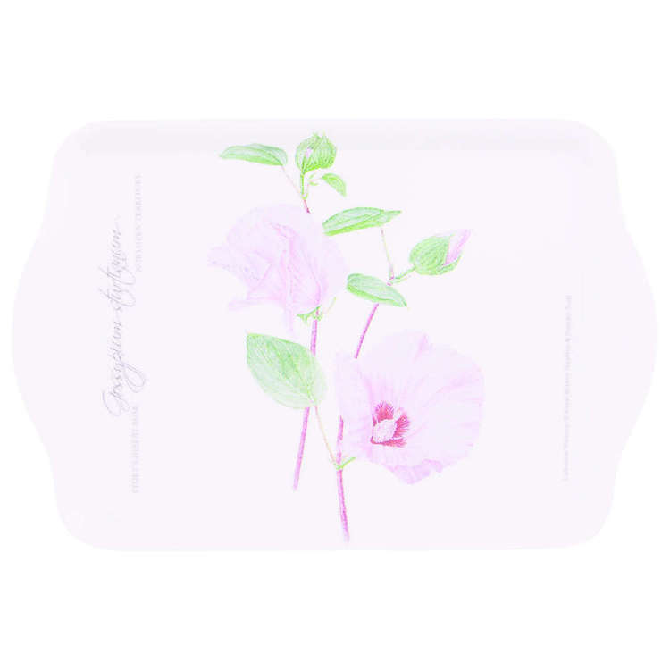 Ashdene Floral Emblems Sturts Desert Rose Tray