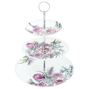 Ashdene Native Bouquet 3 Tier Cake Stand