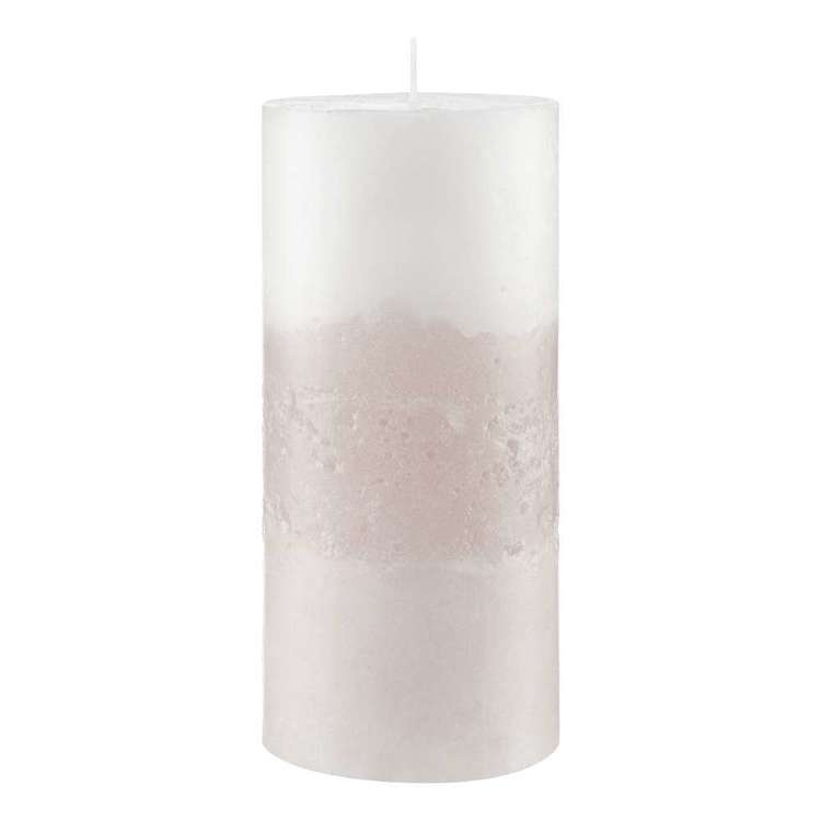 Bouclair Purely Pastel 2 Tone Pink Candle