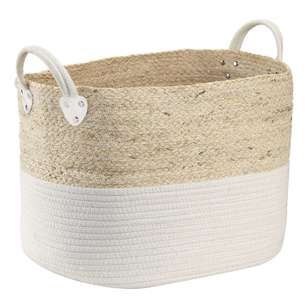 Bouclair Purely Pastel Cotton And Rope Basket