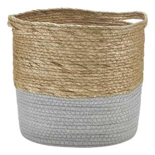 Bouclair Purely Pastel Rush Cotton And Rope Basket