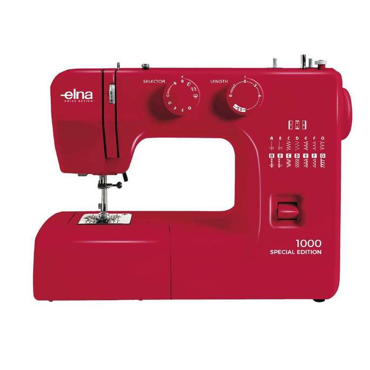 Elna 1000 Ruby Red Sewing Machine