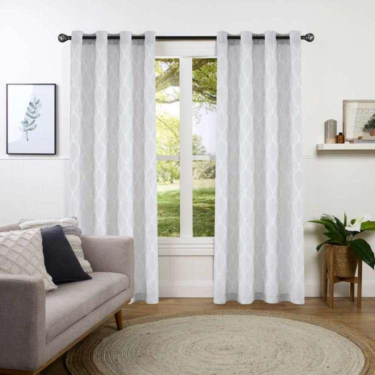 KOO Lantern Jacquard Sheer Eyelet Curtains
