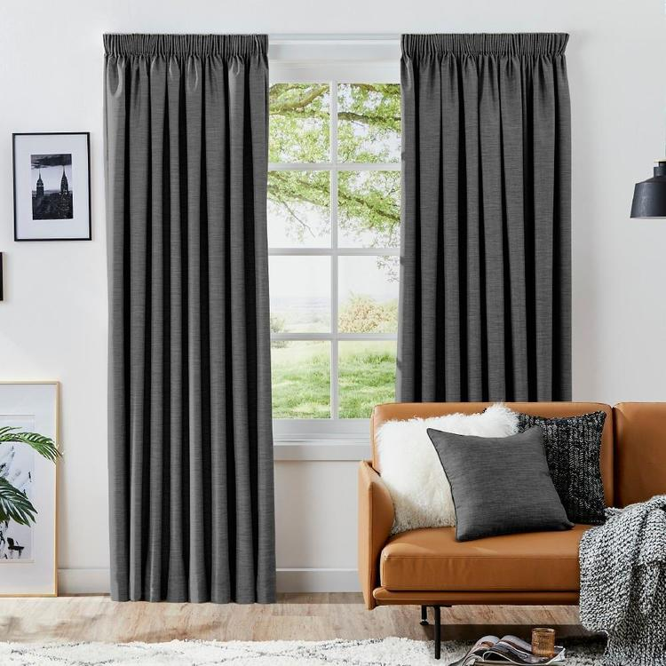 KOO Moon Blockout Pencil Pleat Curtains