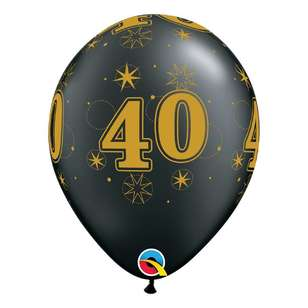 Qualatex 40th Sparkle Balloon