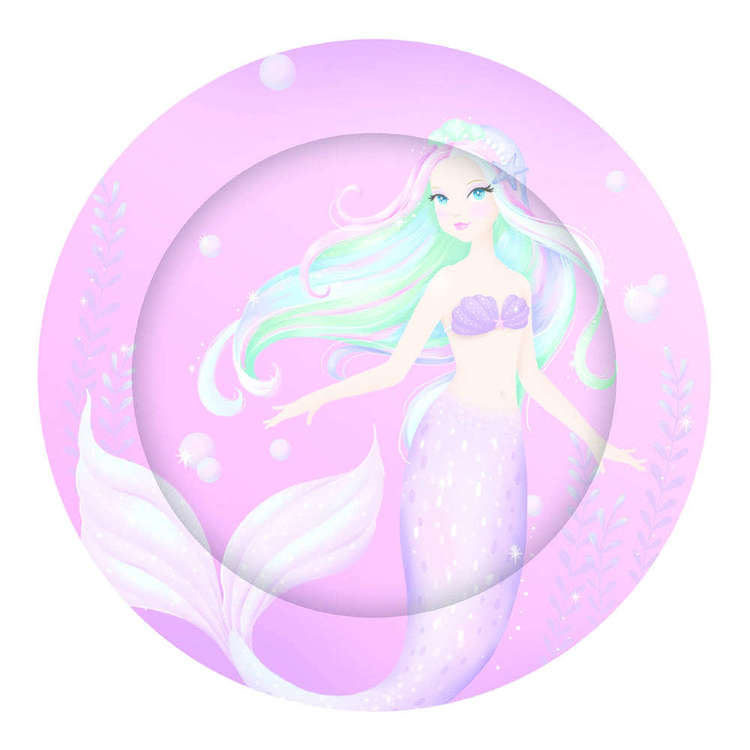 Artwrap Mermaid Paper Plates 8 Pack