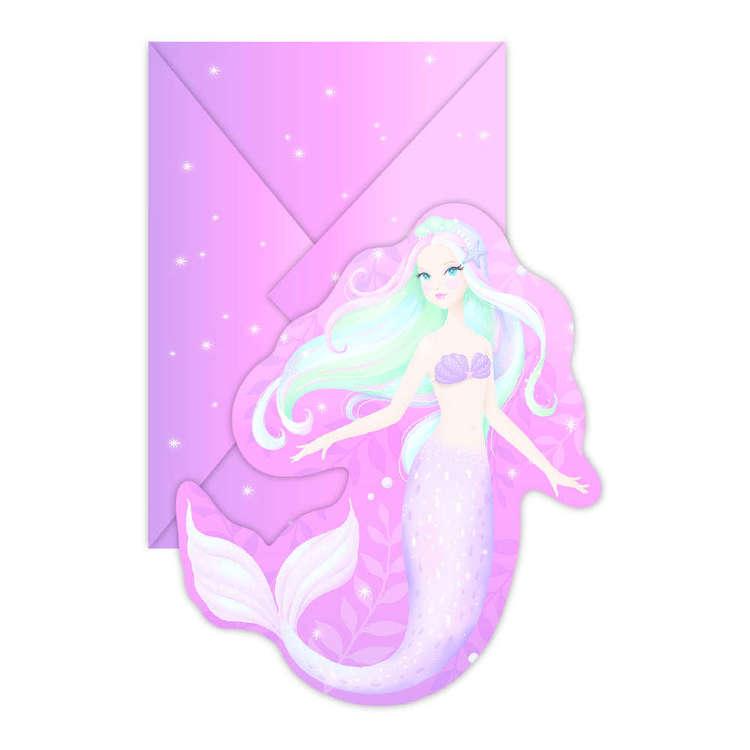 Artwrap Mermaid Invites 8 Pack