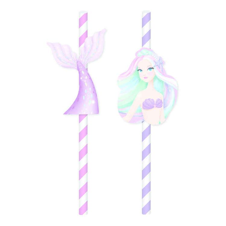 Artwrap Mermaid Paper Straws 20 Pack