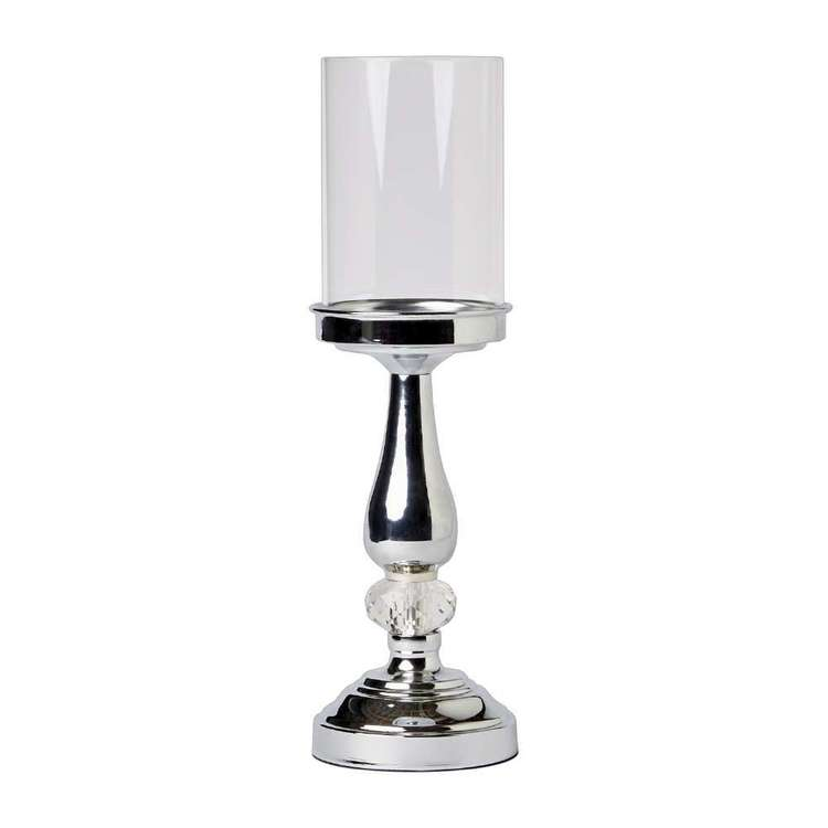 Ombre Home Classic Chic Large Candle Holder Silver