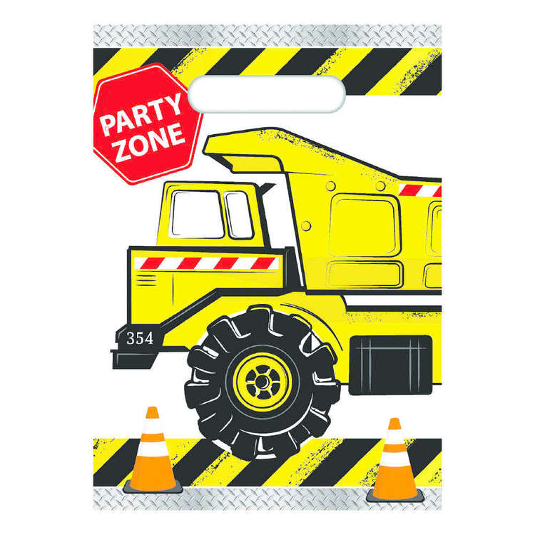 Artwrap Construction Party Bags 8 Pack