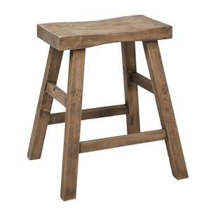 Ombre Home Classic Chic Rustic Wood Stool