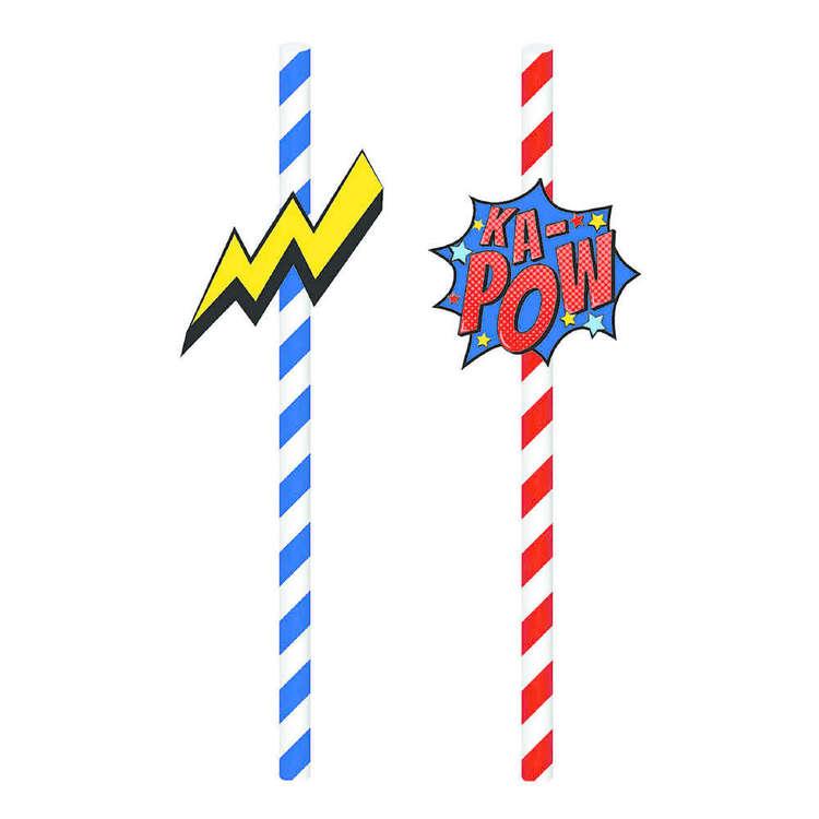 Artwrap Superhero Paper Straws 20 Pack