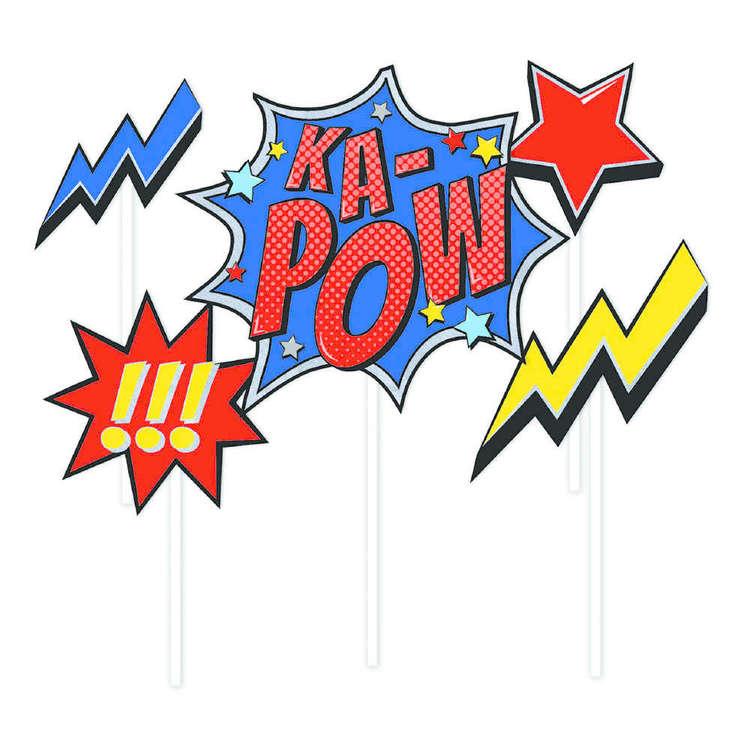 Artwrap Superhero Cake Toppers 5 Pack