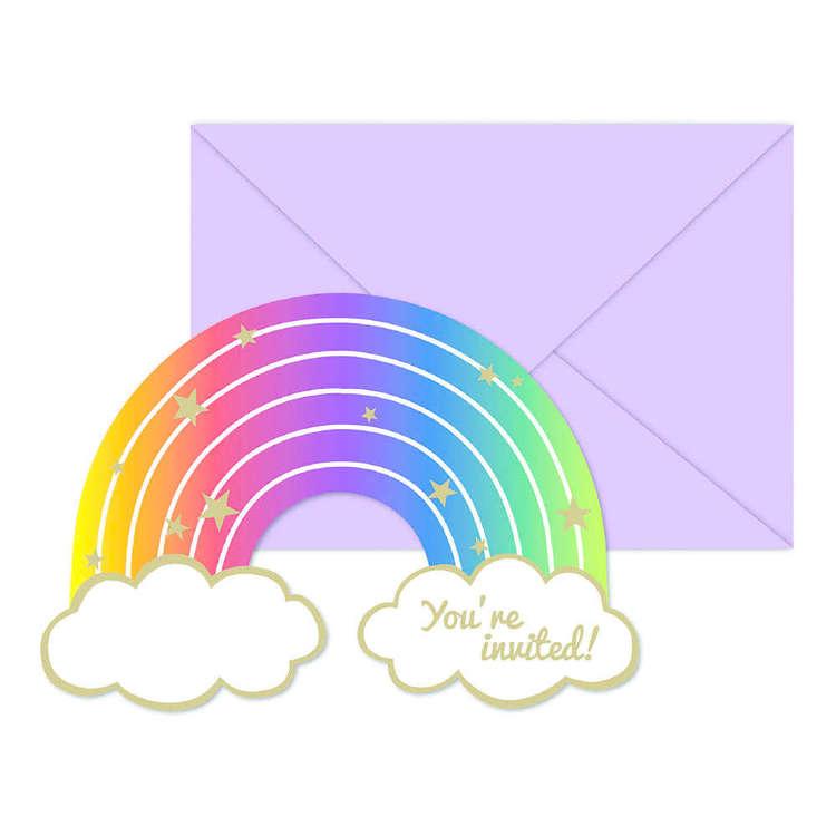 Artwrap Rainbow Invites 8 Pack