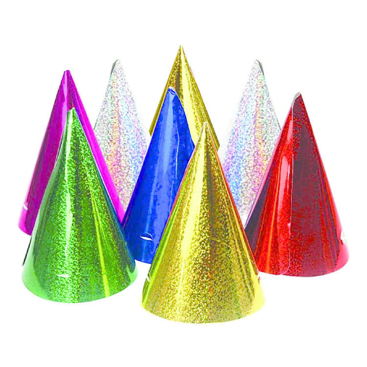 Artwrap Holographic Party Hats 8 Pack