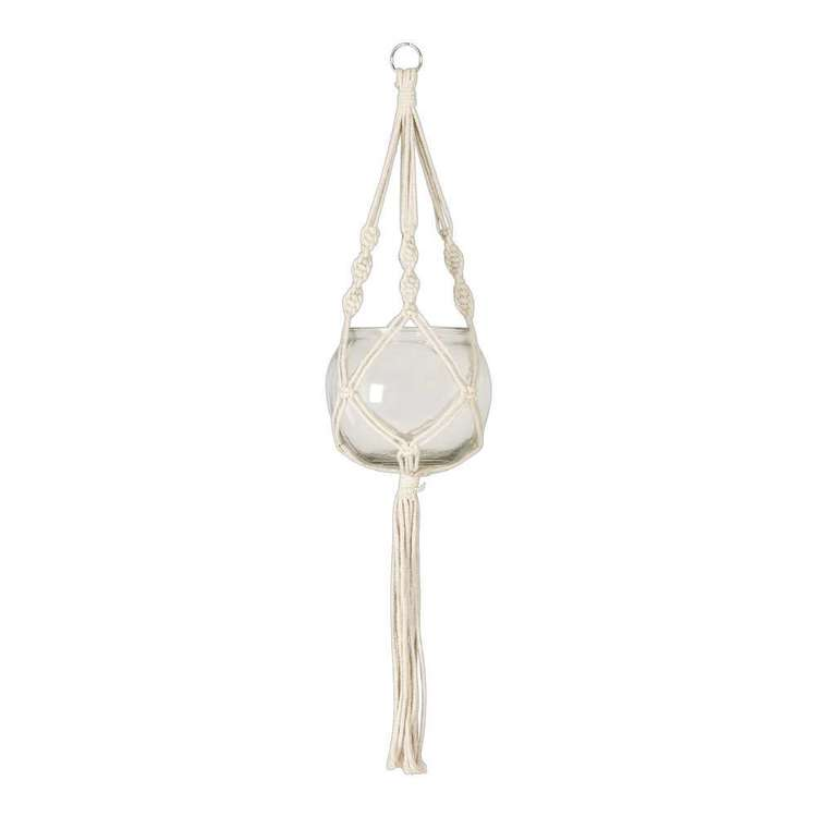Ombre Home Country Living Macrame Hanging Pot