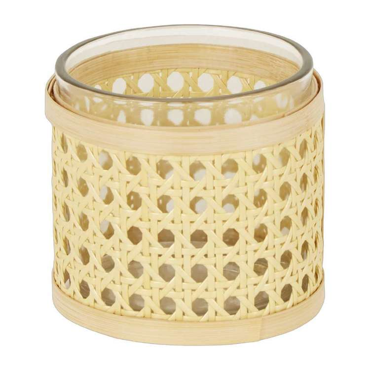 Ombre Home Boho Bloom Rattan Candle Holder