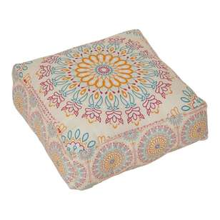 Ombre Home Boho Bloom Printed Ottoman