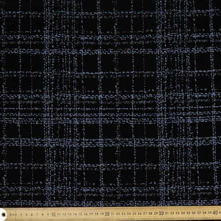 Check Printed Velveteen G1 148 cm Fabric