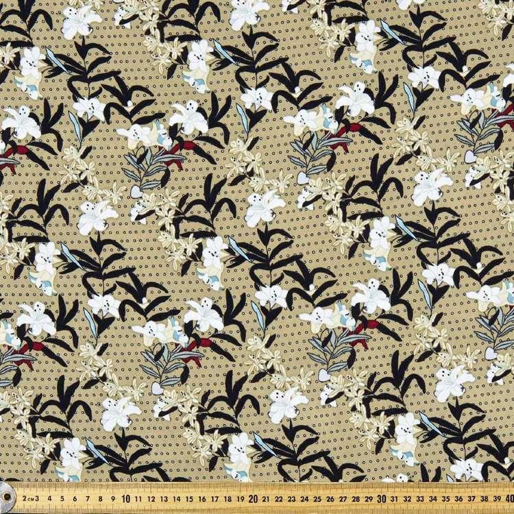 Floral Printed Oriental Spun Crepe Fabric