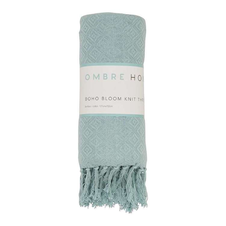 Ombre Home Boho Bloom Knit Throw
