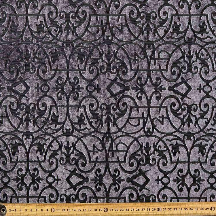 #3 Printed Burnout Rayon Velvet Fabric