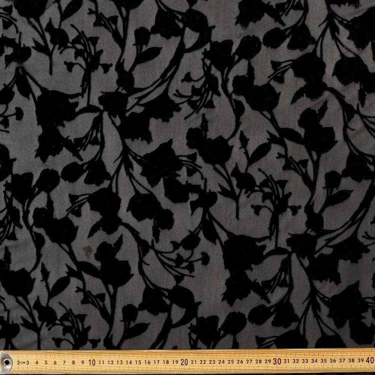 #4 Printed Burnout Rayon Velvet Fabric