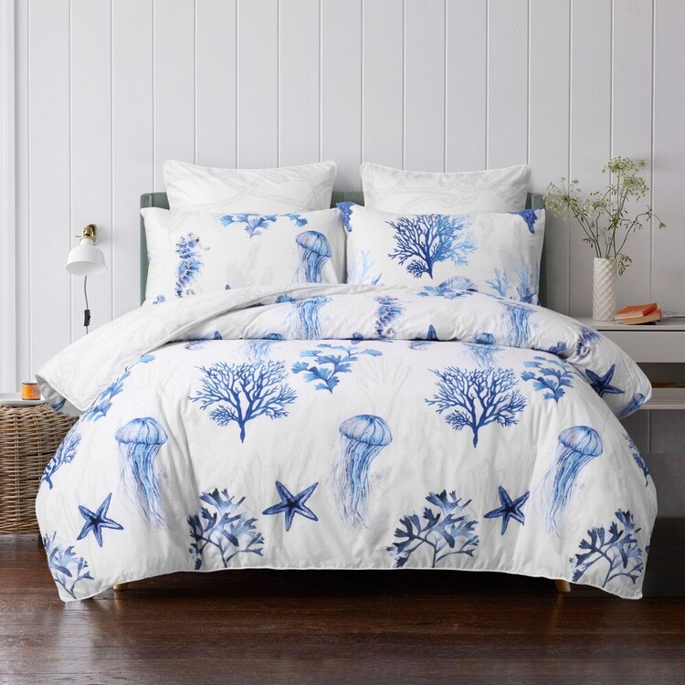 KOO Logan Coastal Quilt Cover Set