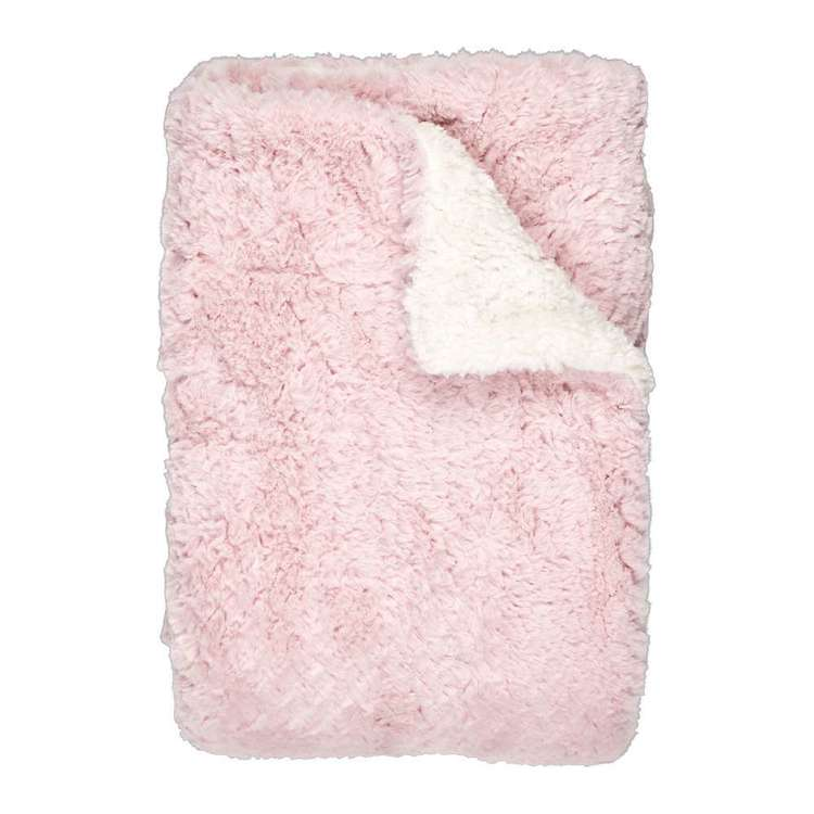 Living Space Isabel Faux Fur Sherpa Throw