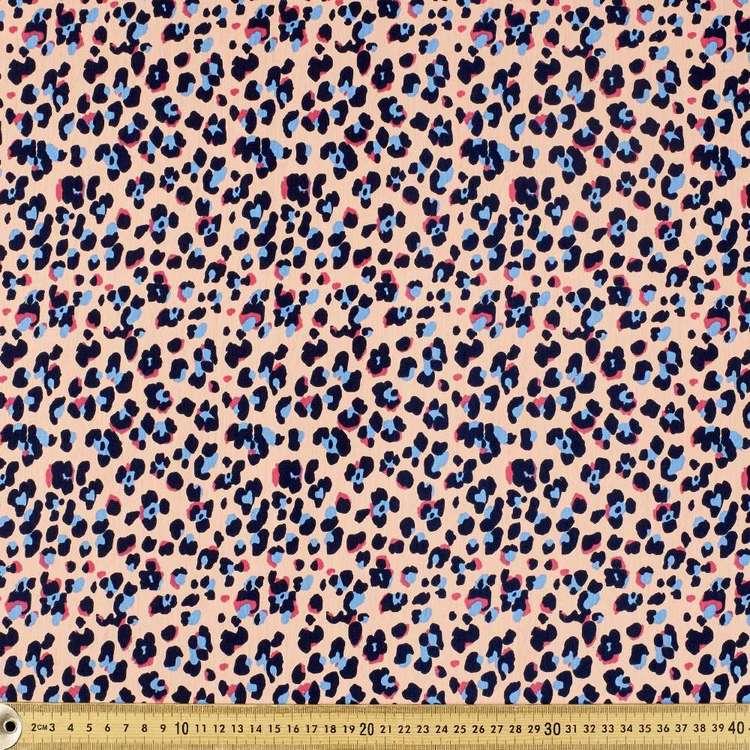 Cheetah Printed 148 cm Cotton Spandex Fabric