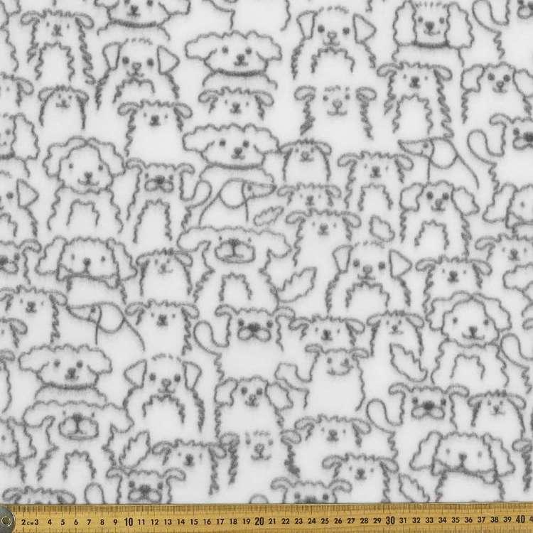Dogs Printed Micro Fleece Fabric