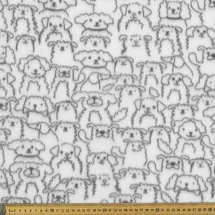 Dogs Printed Micro Fleece Fabric